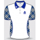 Aero Mens Tartan Polo Shirt, available in blue