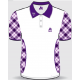 Aero Ladies Tartan Polo Shirt, available in purple