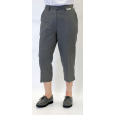 Emsmorn Bi-Stretch Ladies Cropped Trousers, Grey