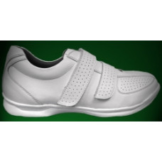 Emsmorn Fusion Trainer with velcro straps, available in white, size 7 only
