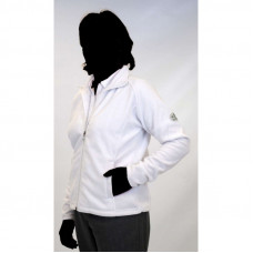 Emsmorn Ladies Liberty Fleece Zipped Jacket, White