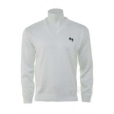 BBS Plain Pullover, White with bowls logo