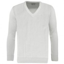 BBS Ribbed Pullover, White