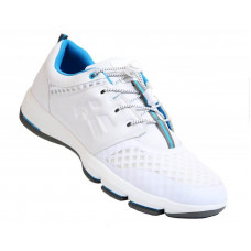 Henselite Gents HM75, White with sky blue trim