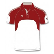 Henselite Premier Pro Polo Shirt, burgundy panelling, small only