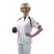 Taylor Ladies Ace Sports Shirt XV1 White with Silver Grey with Silver Grey Piping